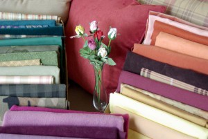 fabrics and roses to choose from for handmade bags